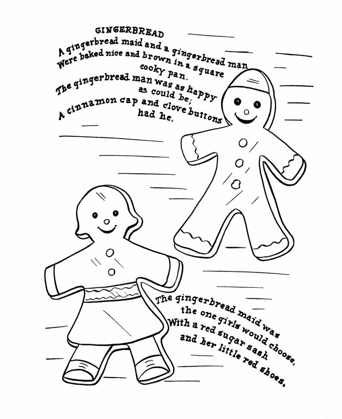 Coloring Gingerbread Man - Characters & Animals Coloring Pages - AZ ...