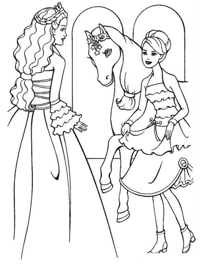 Beautiful Barbie Coloring Pages : Barbie And The Magic Pegasus - AZ ...