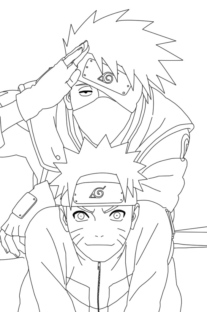 Naruto Naruto Anime Coloring Pages
