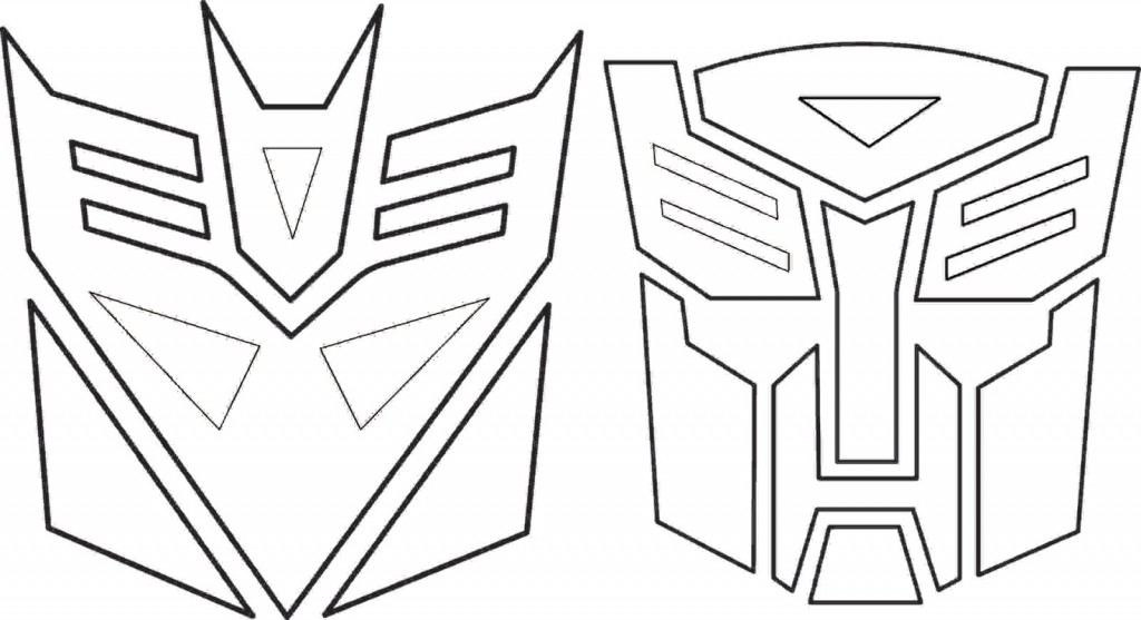 Easier Transformers Autobots Decepticons Para Colorir - deColoring