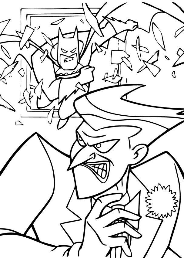 BATMAN coloring pages - Batman and Joker