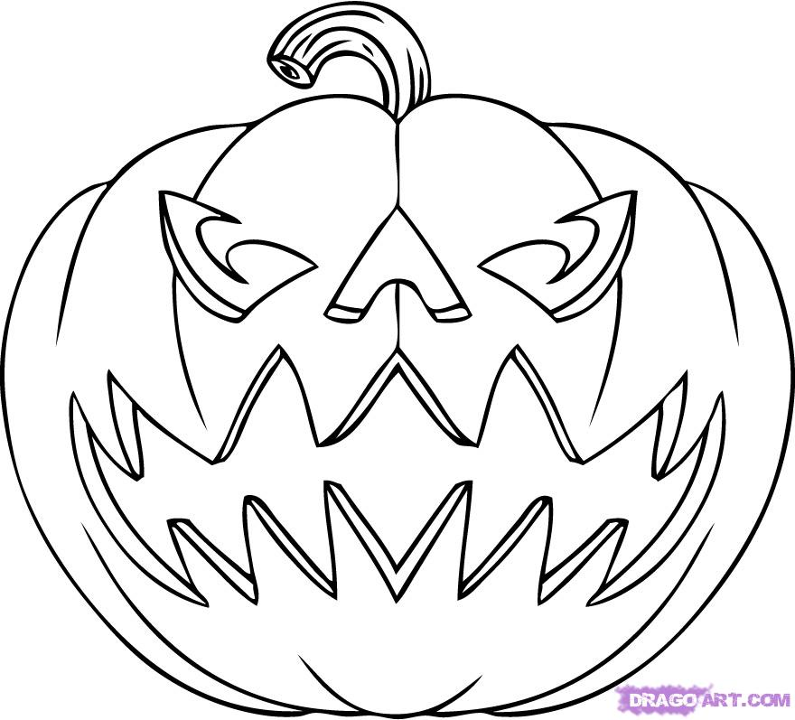 How to Draw a Jack o Lantern, Step by Step, Halloween, Seasonal