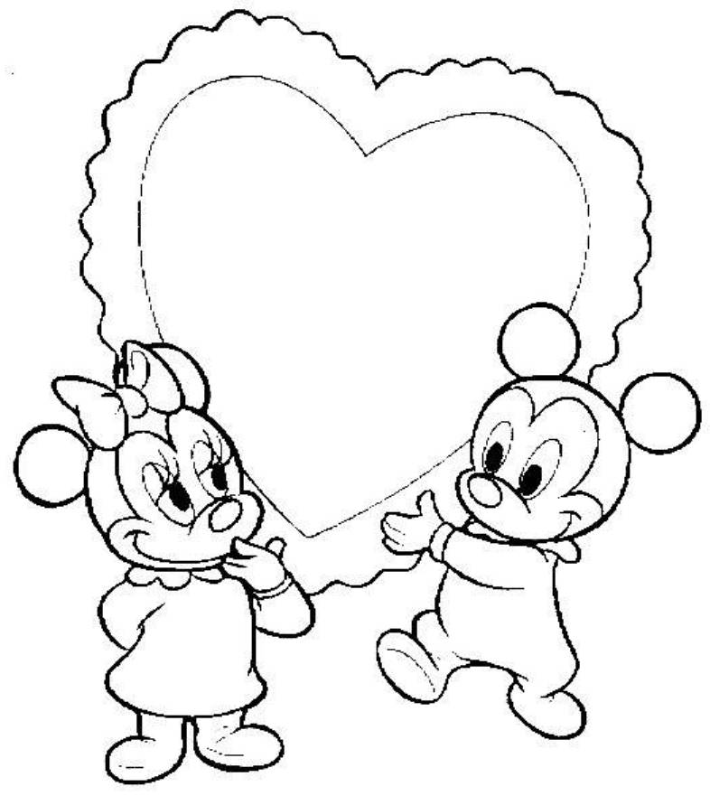 Amazing Mickey And Minnie Kissing Coloring Pages Artsybarksy