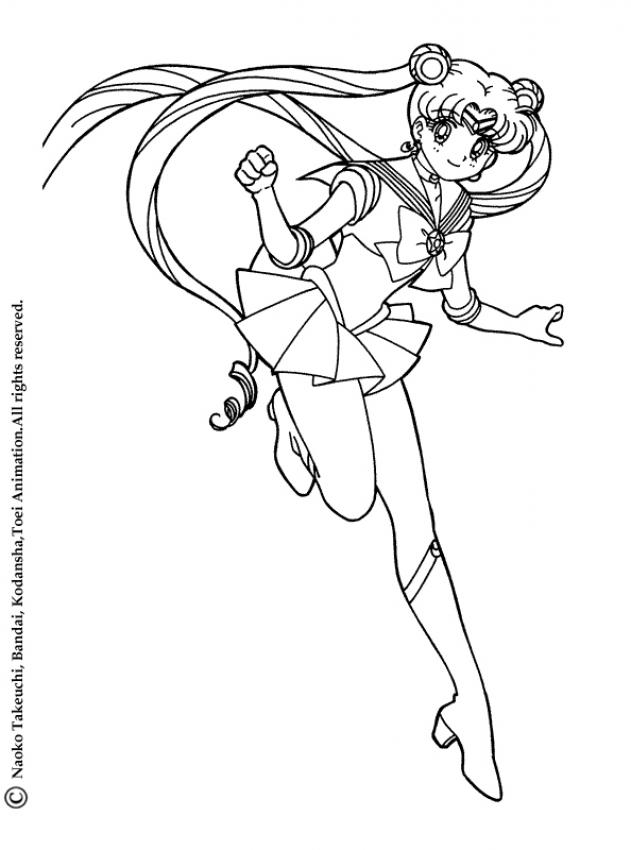Sailor Moon Coloring Pages Online Game Az Dibujos Para Colorear