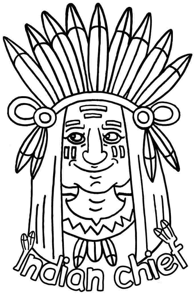 Thanksgiving Indian Coloring Sheets Printable For Girls Amp Boys 1693