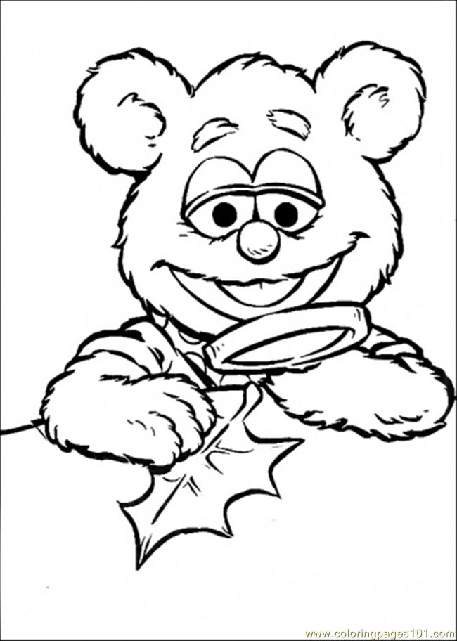 Coloring Pages The Baby Looks The Leaves (Cartoons > Muppet Babies