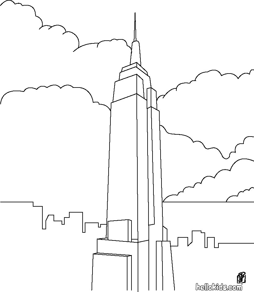 empire state building coloring pages - photo#25