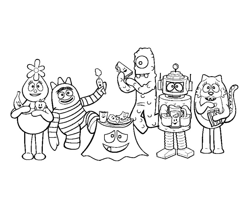 Printable Yo Gabba Gabba 10 Coloring PageFree Coloring Pages For ...