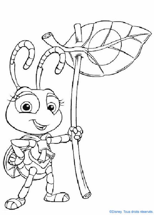 a bugs life coloring book pages - photo #28