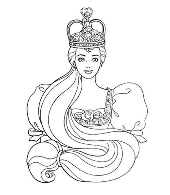 coloring pages barbie tiara - photo#4