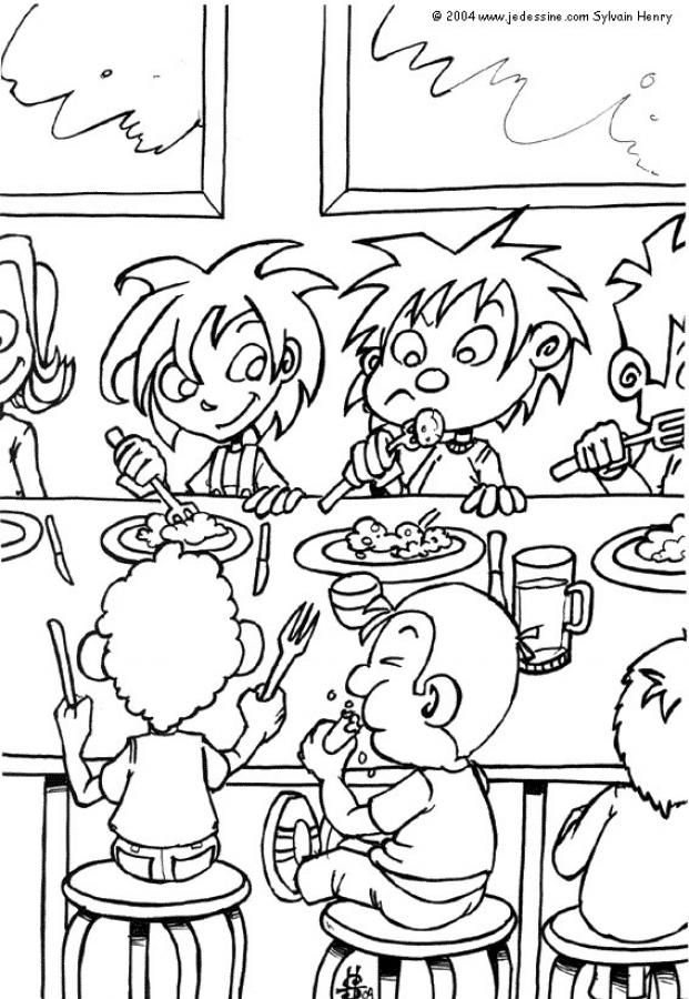 lunch-time-coloring-page-