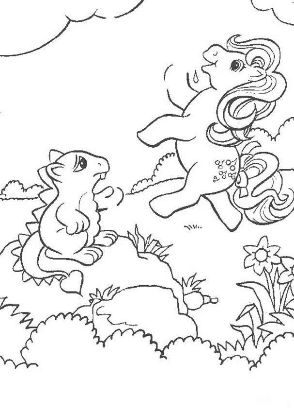 MY LITTLE PONY coloring pages - Ponies having a picnic