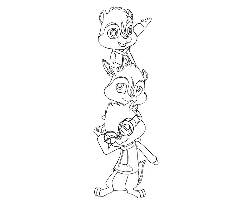 8 Alvin And The Chipmunks Coloring Page - AZ Dibujos para colorear