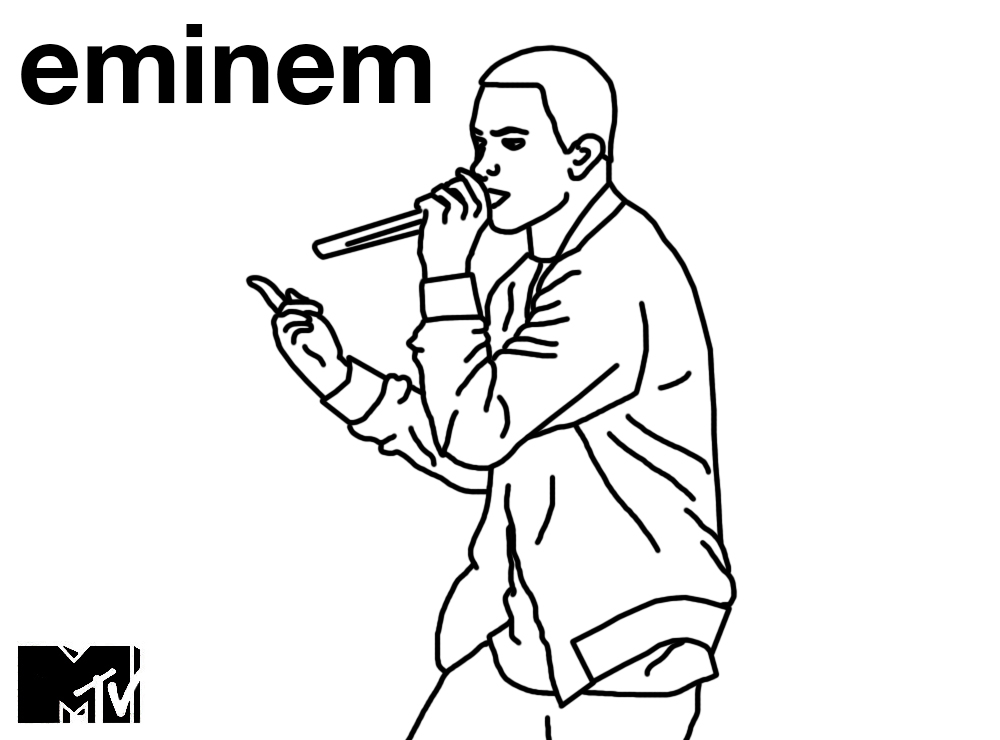 eminem coloring pages - photo#13