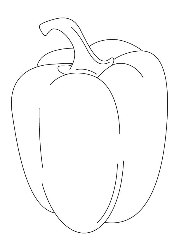 Yellow capcicum coloring page | Download Free Yellow capcicum