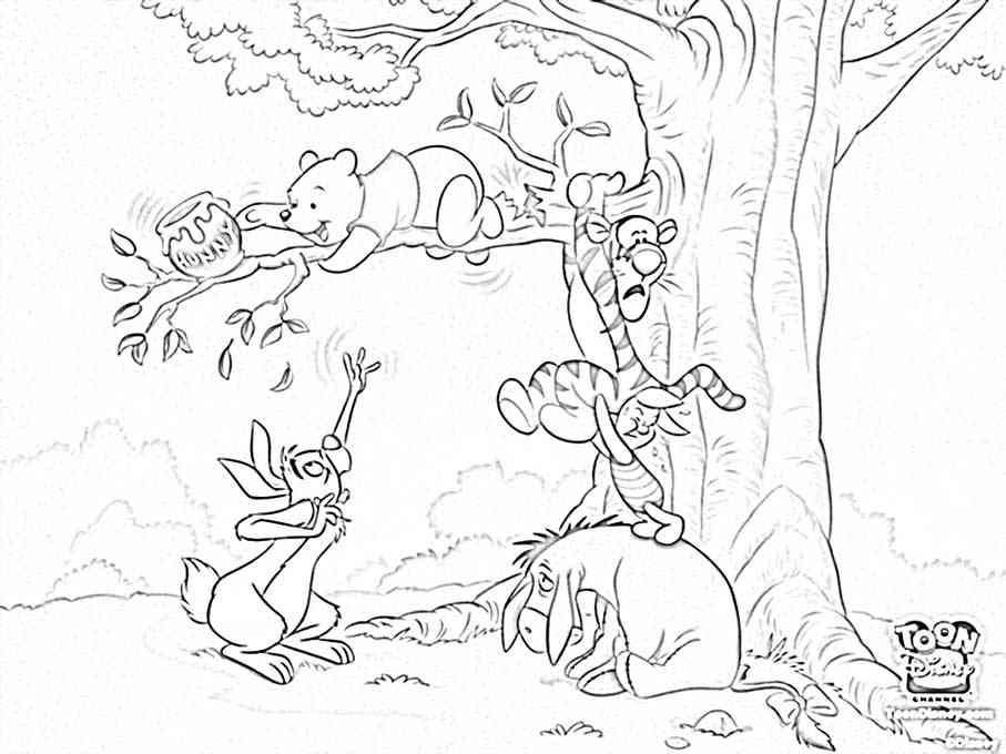 classic pooh coloring pages - winnie the pooh coloring pages az dibujos para colorear