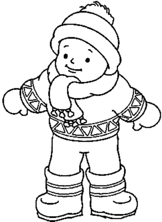 Free Coloring Pages Of Boy Winter Clothing Coloring Pages Of Winter Clothes