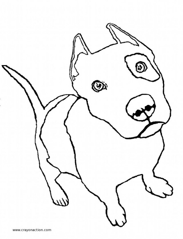 Printable Puppy Pit Bull Coloring Page Wallpaper | ViolasGallery ...