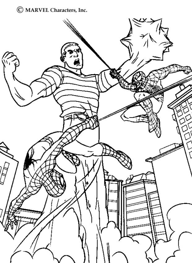 coloring pages online spiderman fighting - photo#4