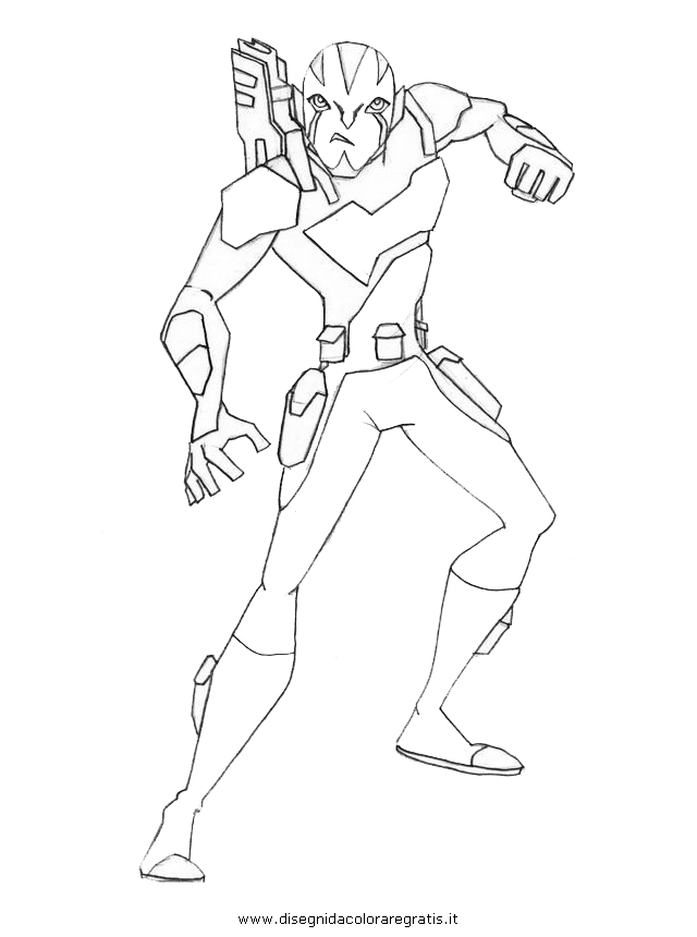 Ben10 Omniverse Colouring Pages