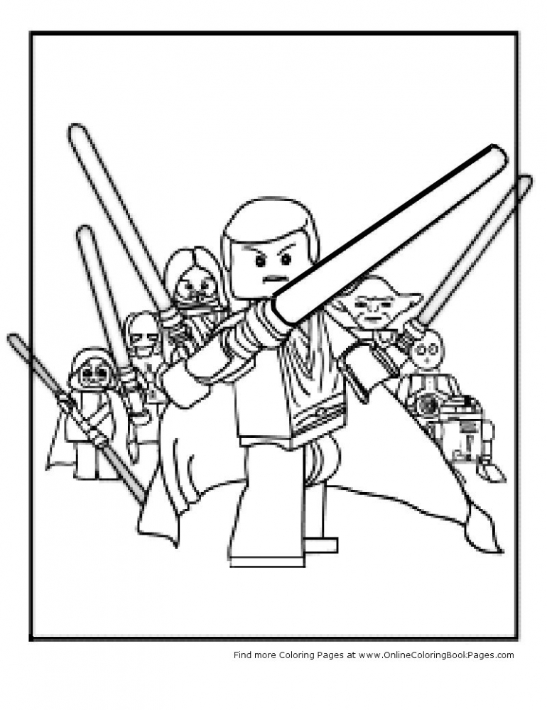 Lego Star Wars Coloring Page | Lego Coloring Pages | Pinterest - AZ ...