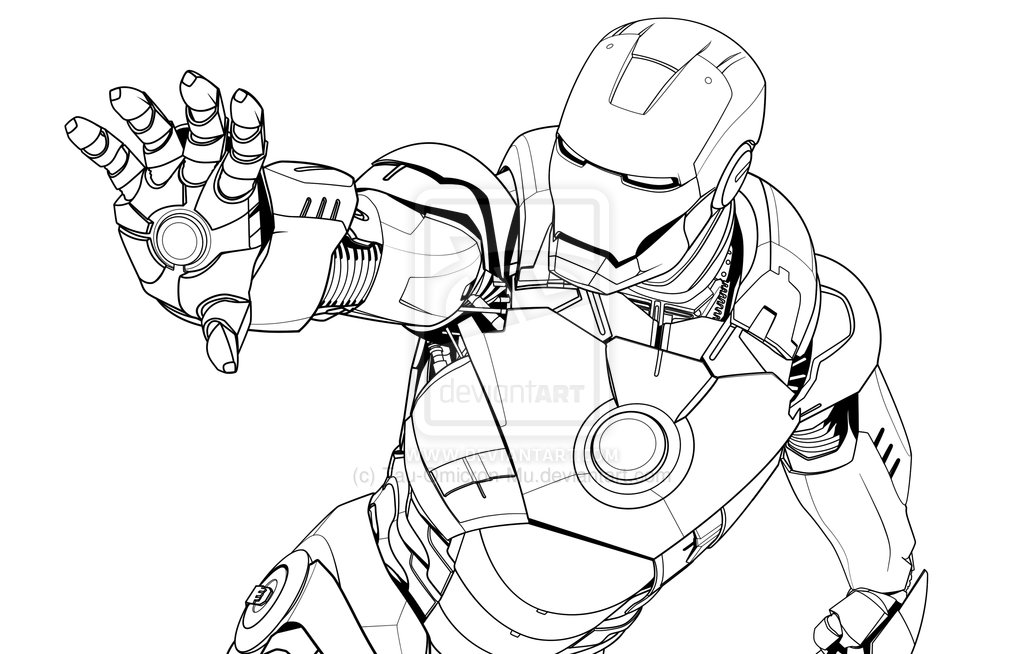 Iron Man Mark 6 Coloring PagesManPrintable Coloring Pages Free