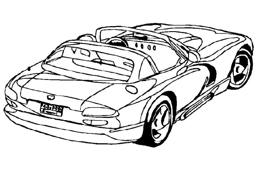 Challenger Car Coloring Pages : Challenger car coloring pages crokky az