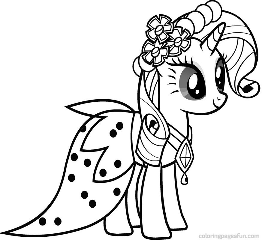 My Little Pony Friendship Is Magic Coloring Pages To Print | Free