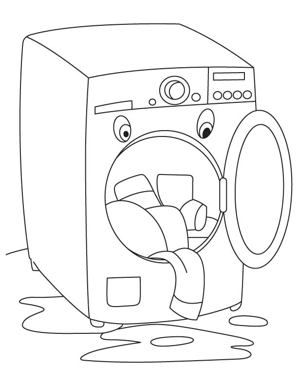 Free Coloring Pages Of Washing Line Washing Coloring Pages