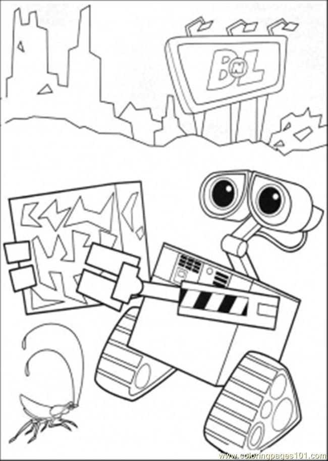 Wall E Coloring Pages Free Printable : Coloring pages wall e works cartoons gt free printable az