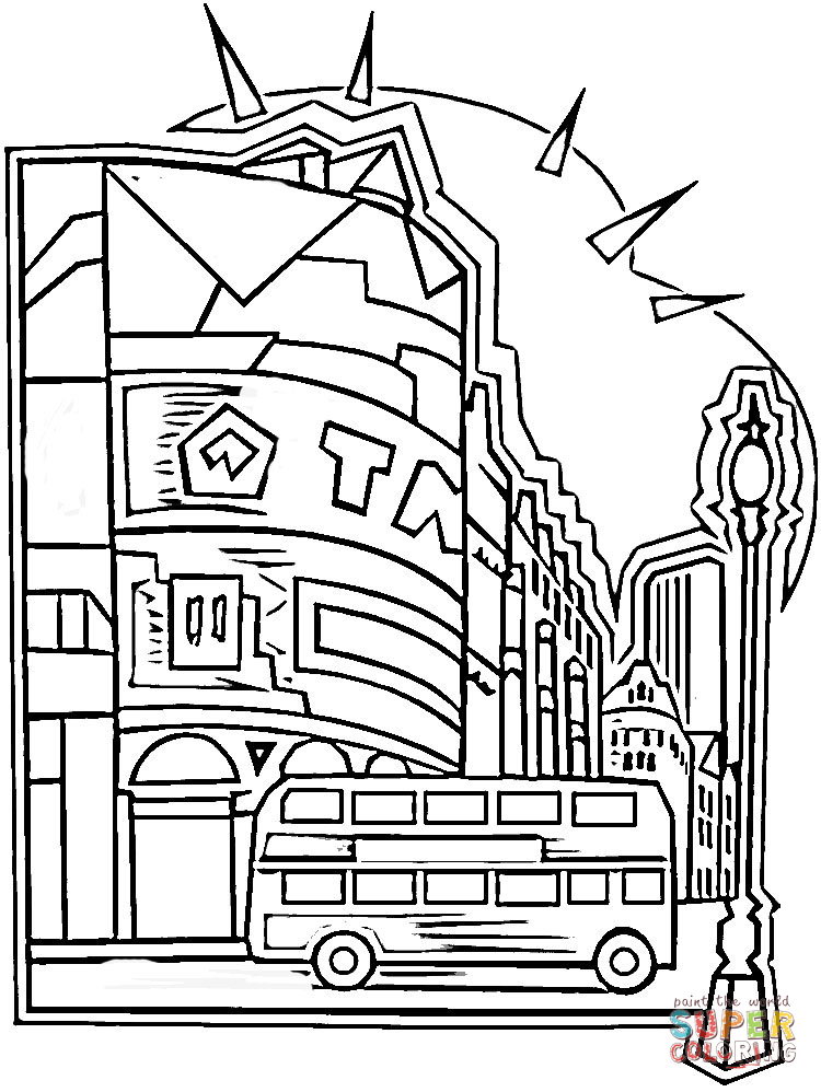 Center Of London Coloring Page