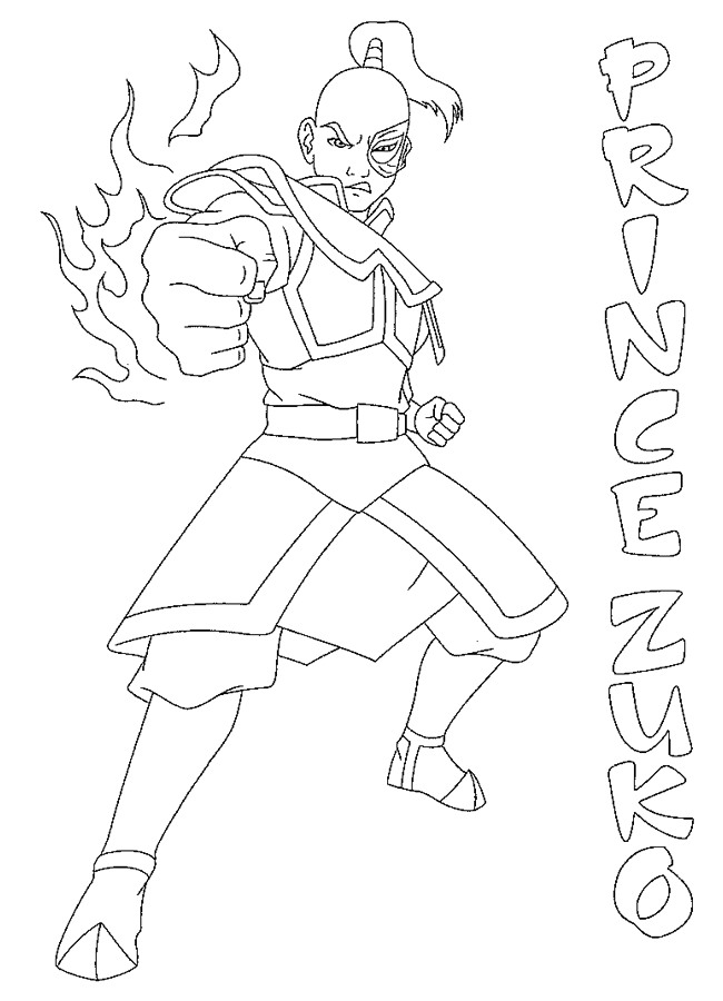 lenda de korra Colouring Pages