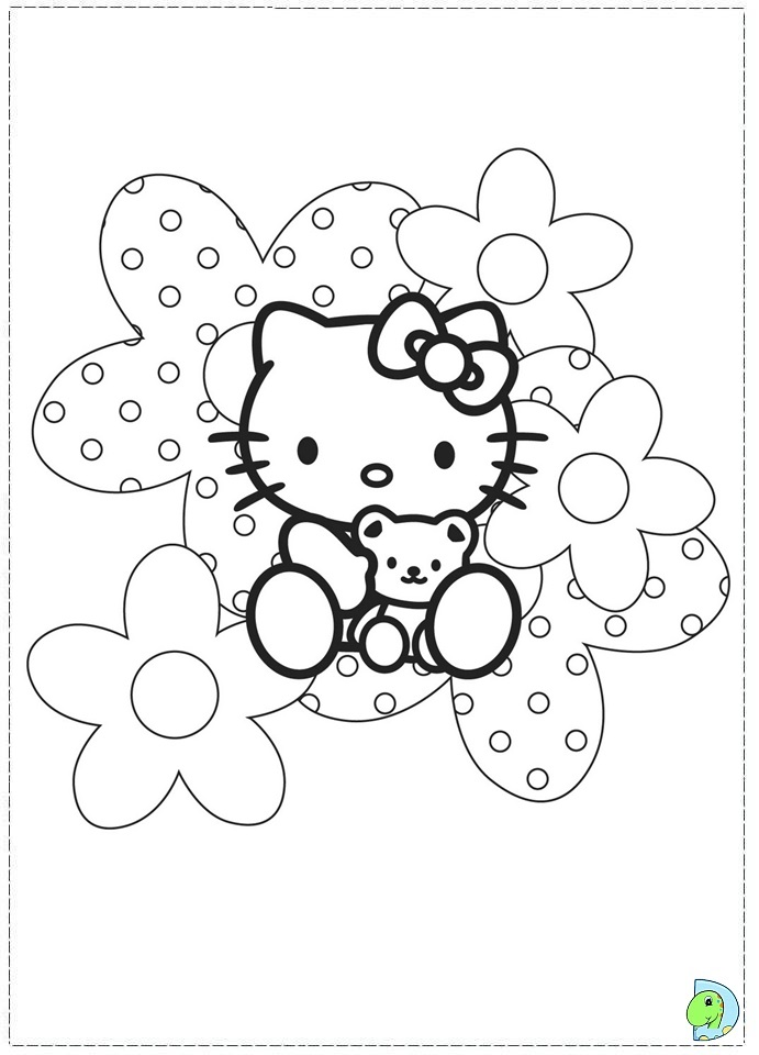 hello kit coloring pages - photo#30