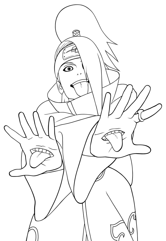 Naruto En Zorro Colouring Pages Page 2 Az Dibujos Para Colorear