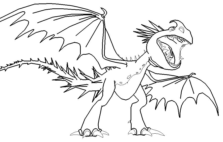 dreamworks dragon deadly nadder coloring pages dreamworks best free coloring pages