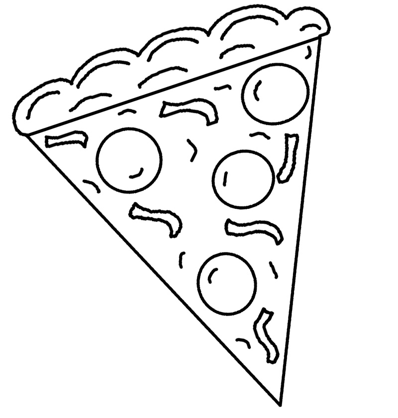 pizza fractions colouring pages