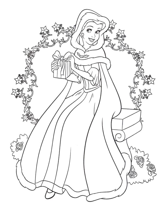 disney princess coloring pages together - photo#21