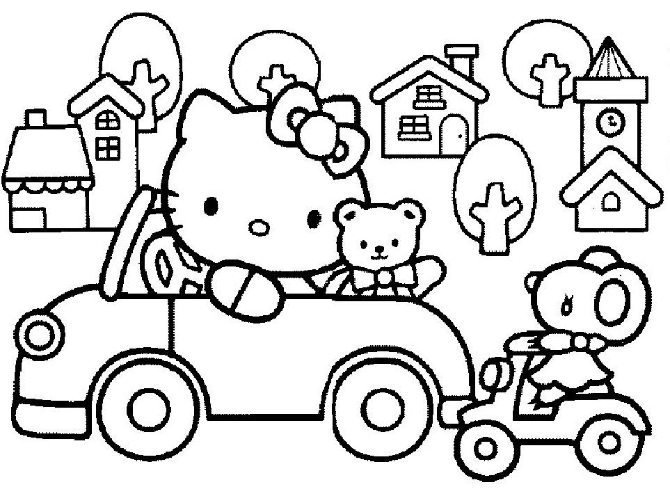 hello kit coloring pages - photo#11