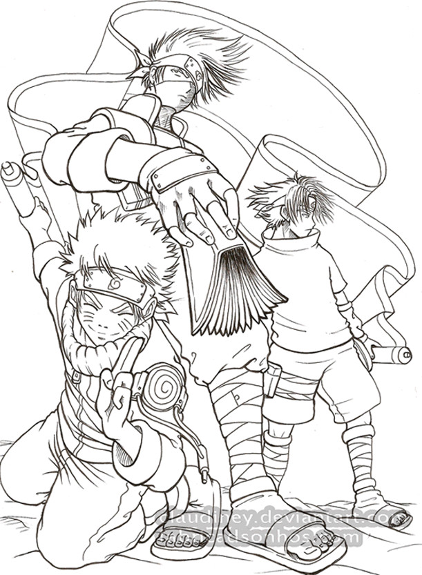Naruto Kakashi e Sasuke by Claudiney on deviantART