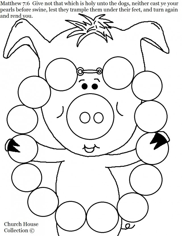 Online Casting Your Pearls Before Swine Coloring Page