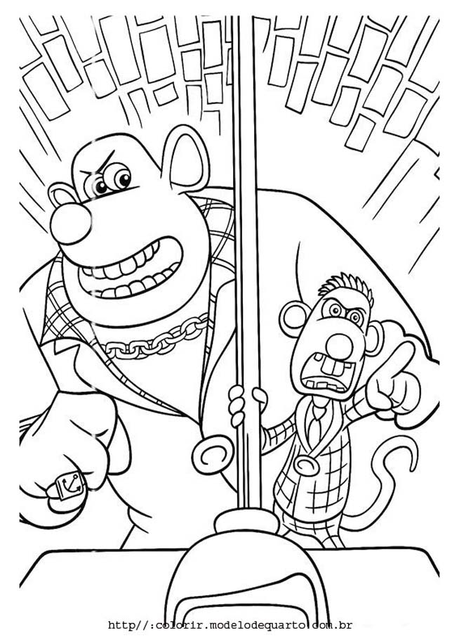 por agua abaixo Colouring Pages