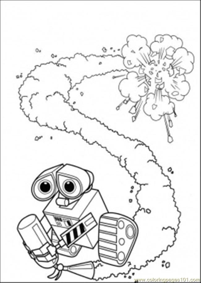 Coloring pages wall e with fire extinguisher cartoons for Fire extinguisher coloring page