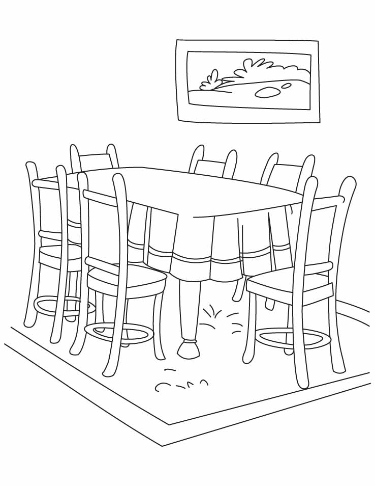 The Line Art And Living : Dining room para colorear niños imagui