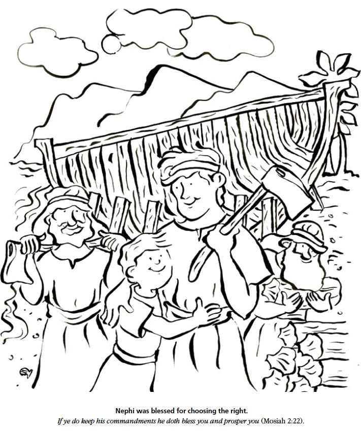 Nephi Builds A Ship Coloring Page