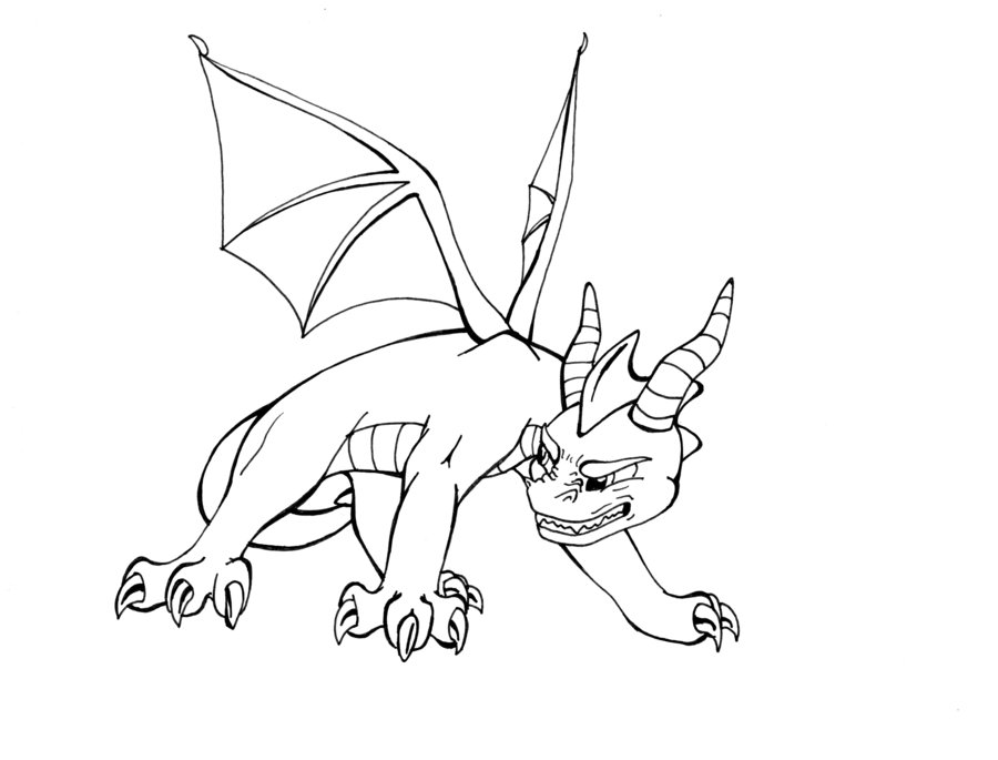 Deviantart more like spyro the dragon custom ps1 by for Spyro the dragon coloring pages