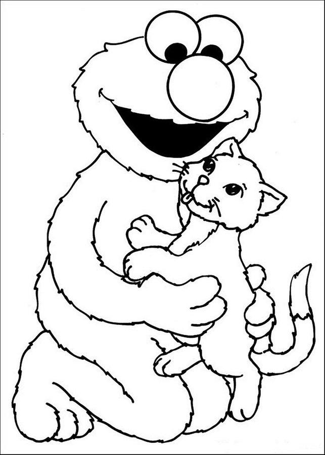 Baby sesame street coloring pages ~ Baby Bear Sesame Street Colouring Pages - AZ Dibujos para ...