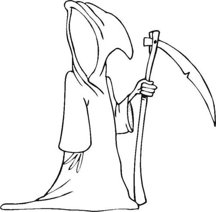 Halloween Death Coloring Pages | Coloring
