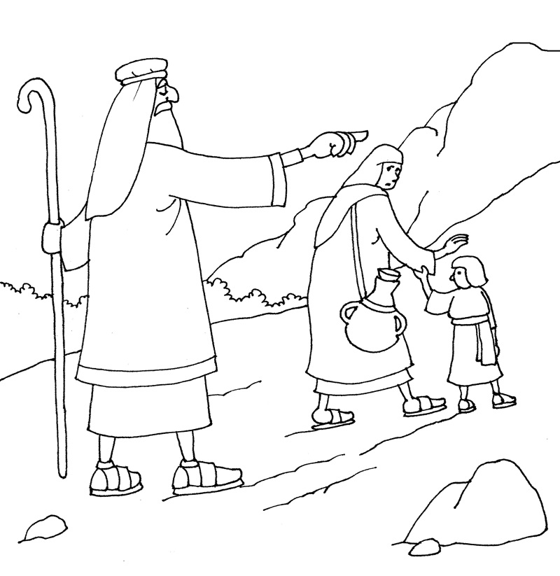 hagar and ishmael coloring pages - photo#19