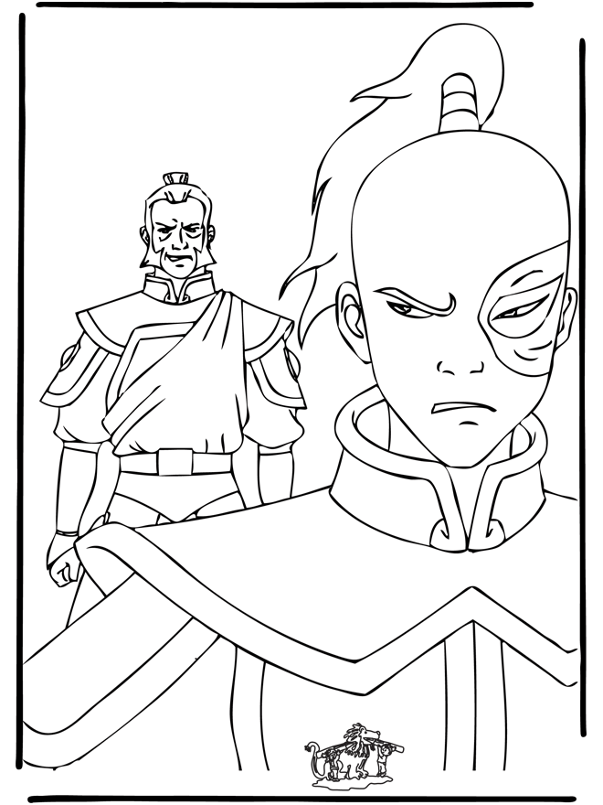 Korra Avatar Coloring Page « Printable Coloring Pages - AZ Dibujos ...