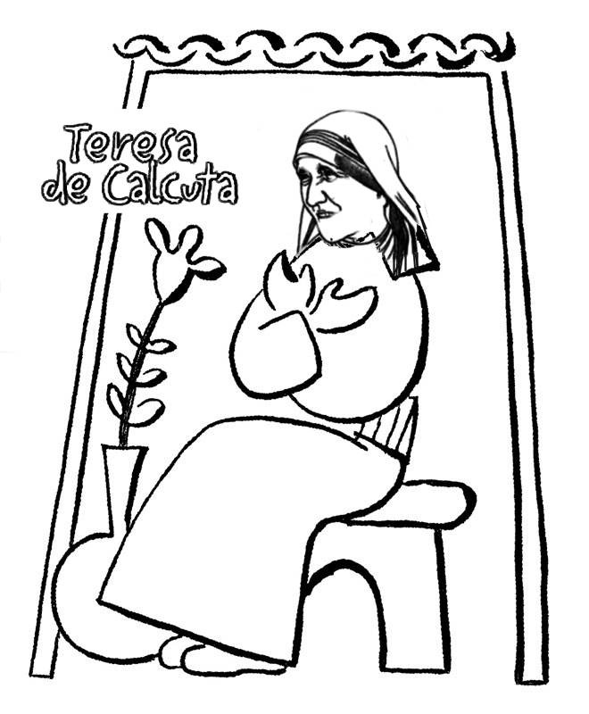 Mother Teresa Coloring Pages